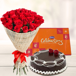 roses-combo-with-cake--combos-India