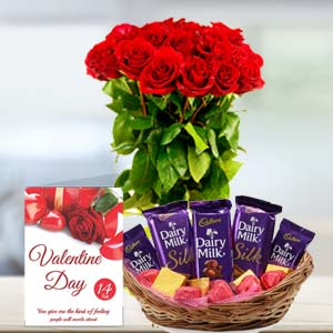 Chocolate With Roses: Anniversary-flowers-&-chocolates  India