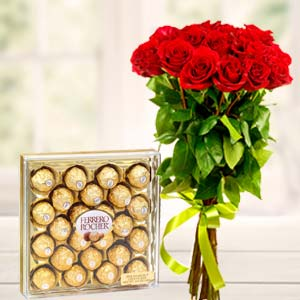 Ferrero Rocher Combo: Rose Day Ambala Cantt,  India
