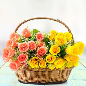 Rose Basket: Gift Siliguri,  India
