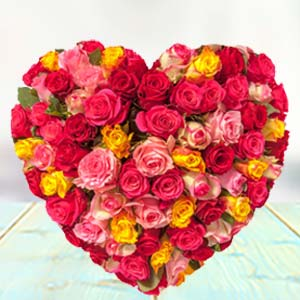 HEART SHAPED ARRANGEMENT: Rose Day Panchkula,  India