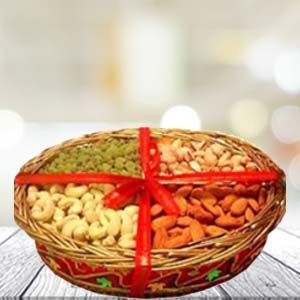 Dry Fruit Basket Small: Gifts Agra Cantt,  India