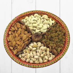 Dry Fruit Thali: Gift Calcutta,  India