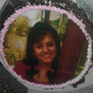 Photo Cake 1kg: Gift Jammu,  India