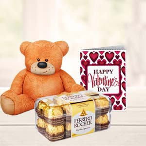 Chocolates And Teddy Combo: Gift Guna,  India