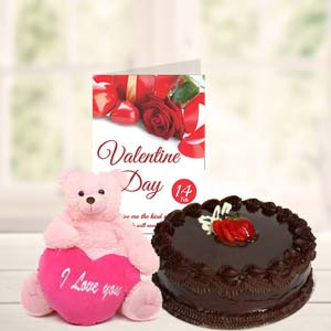 Cake Teddy & Card: Gift Visakhapatnam,  India