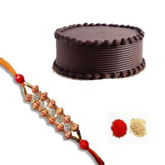 Rakhi Choco Treat: Rakhi Ujjain,  India
