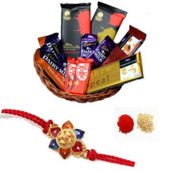 Rakhi Chocolate Hamper: Rakhi Gurgaon,  India