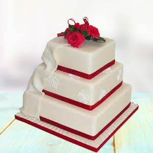 Special 3 Storey Cake: Engagement  India