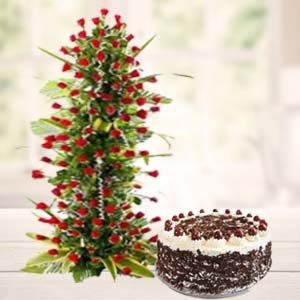 Valentine Exotic Flower Hamper: Gift Chandigarh,  India