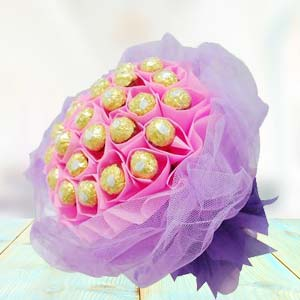 Ferrero Rocher Bouquet(24 Pieces): Gift Allahabad,  India