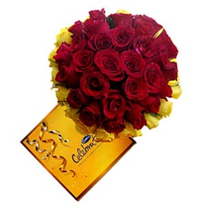 Cadbury And Mixed Roses: Birthday-gift-ideas  India