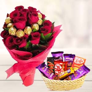 Valentine Chocolate Bouquet: Gift Ludhiana,  India