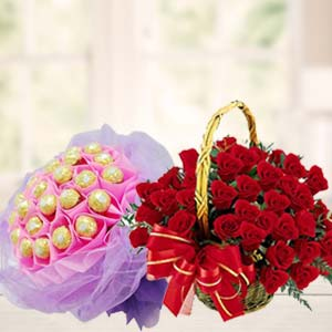 Chocolate Combo With Red Roses: Gift Chennai,  India