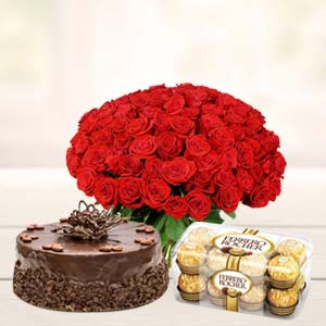 Roses Basket Combo: Gift Karnal,  India
