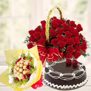 Roses Combo With Chocolates Bunch: Gift Goa,  India
