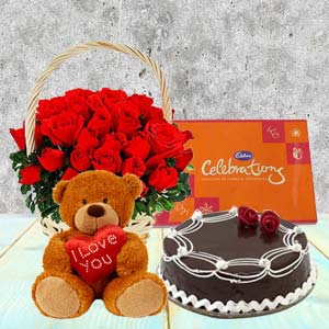 Five Valentine Gifts Combo: Rose Day Indore,  India
