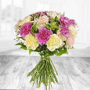 Mixed Carnation  Bunch: Gift Guna,  India