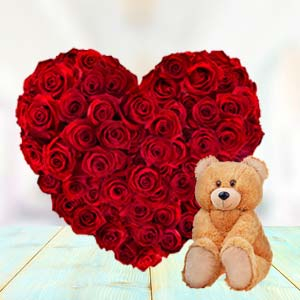 Heart Shaped Roses Combo: Combos  India