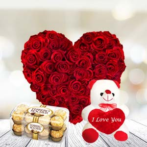 Exclusive Combo With Chocolates: Rose Day Kolhapur,  India