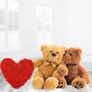 Teddy Bear With Pillow: Gift Bhagalpur (bihar),  India