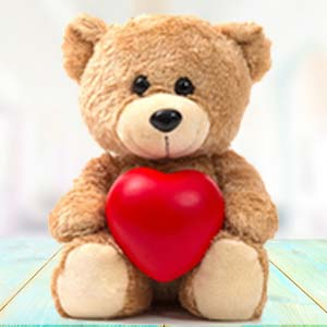 Brown Teddy With Pillow: Soft-toys  India
