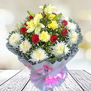 Mix Flowers Bunch: Gift Kanpur,  India