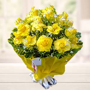 Bouquet Of Yellow Roses: Mothers-day  India