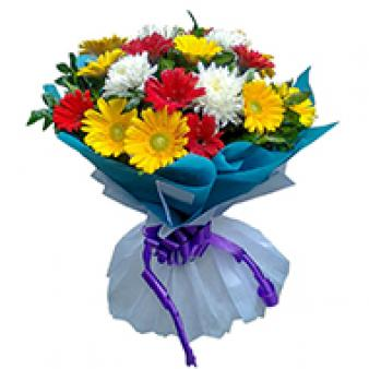 Bouquet Of Mix Gerbera: Gift Sonipat,  India