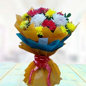 Bouquet Of Gerbera And Carnations: Gift Haldwani,  India