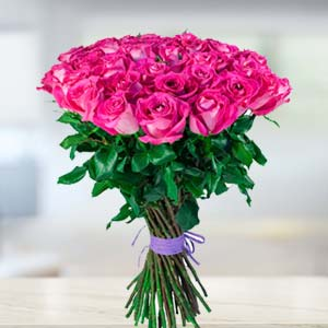 Bunch Of Pink Roses: Gifts For Her Jalandhar,  India
