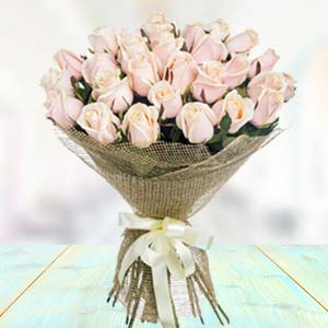 Bouquet Of White Roses: Gift Faridabad,  India
