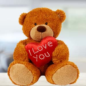 I Love You Teddy Soft Toys Mixed Mithai And Roses, India