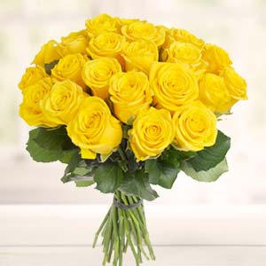 Yellow Roses Bunch: Gifts For Her Bhopal,  India