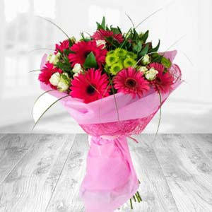Pink Gerbera Bunch: Gift Sonipat,  India