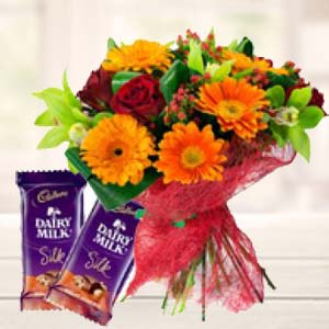 Mix Flowers With Chocolates: Gifts For Her Delhi,  India