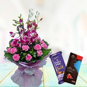 Orchids With Chocolates: Gift Ambala,  India