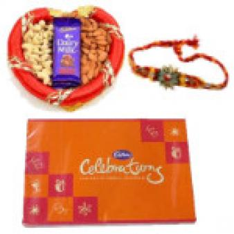 Rakhi Celebrations GIft Hampers: Rakhi Meerut,  India