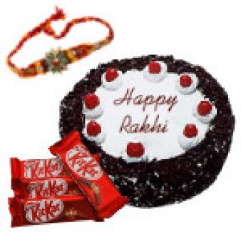 Rakhi With Black Forest Cake: Rakhi Patna,  India
