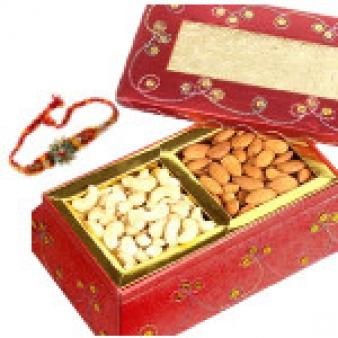 Dry Fruits Box With Rakhi: Rakhi New Mumbai,  India