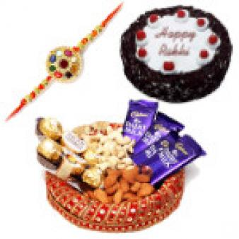 Rakhi Dry Fruits Basket Hampers: Rakhi Hyderabad,  India