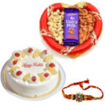 Raksha Bandhan Dry Fruits Combo: Rakhi Hyderabad,  India