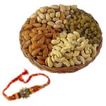 Rakhi Dry Fruits Basket Combos: Rakhi Hyderabad,  India