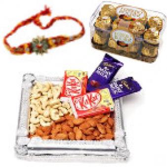 Rakhi Gift Hampers Thali: Rakhi New Mumbai,  India