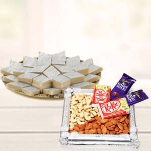 Dry Fruits Combo With Kaju Katli: Gift Sonipat,  India