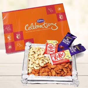 Dry Fruits Combo With Cadbury Celebrations: Gift Ambala Cantt,  India