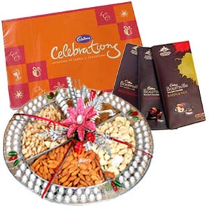 Dry Fruits Box Combo With Chocolates: Gift Ghaziabad,  India