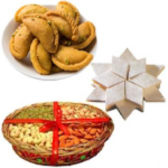 Dry Fruits With Sweets Combo: Gift Meerut,  India