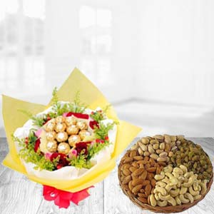 Special Combo With Dry Fruits Thali: Gift Delhi,  India