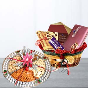 Assorted Chocolates With Dry Fruits: Rakhi Kochi,  India